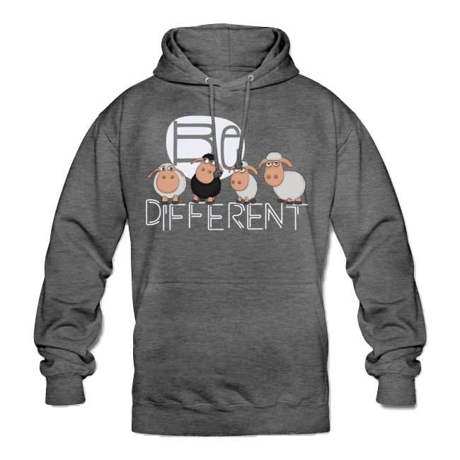 Be different Schafe einzigartig Herren Sweatshirt anthrazit grau