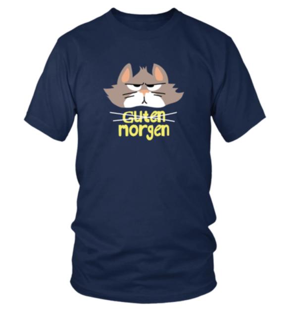 Guten morgen grimmige Katze Herren Shirt