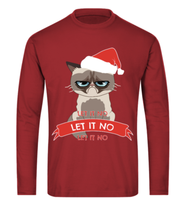 Let it no, let it snow grimmige Katze Herren Longsleeve Shirt